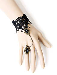Lolita Jewelry Gothic Lolita Ring Victorian Black Lolita Accessories Bracelet / Ring Lace For Women Lace / Alloy / Artificial Gemstones