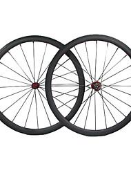 Farsports 700c Road Bike / bicicleta 38 milímetros * 23 milímetros Profundidade Largura cheia de carbono Clincher rodado