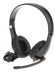 Kanen KM-1080 de alta qualidade Fones de ouvido estéreo com microfone para computador