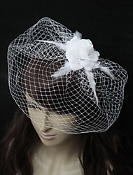 Wedding Veil One-tier Blusher Veils Tulle White / Black