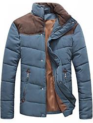 Contraste Homme Couleur Couture épais coton Outwear