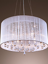 40 Pendant Light ,  Modern/Contemporary Drum Electroplated Feature for Crystal Metal Living Room Bedroom Dining Room