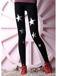 Anan Warm Star Pattern verdicken Leggings (Silver Star)