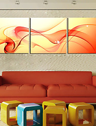 Stretched Canvas Print Art Abstract Dancing Silk Set of 3