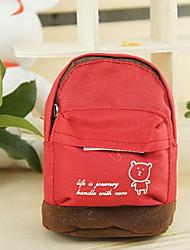 Mini mountaineering buckle School Bag Change Purse(Red)