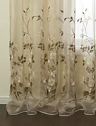 (dos paneles) elegantes bordados Wintersweet país cortina escarpada