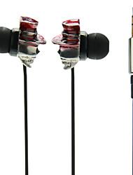 Petit Crâne avec le chapeau In-Ear Super-Basse écouteurs pour MP3, MP4, téléphone mobile
