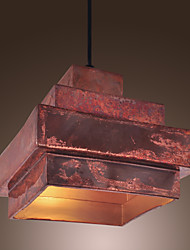 40W Retro Pendelleuchte mit Rusty Metal Shade