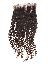 "12 ""100% cheveux humains Kinky Curly Natural Black Hair Piece"