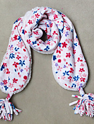 Девушки Мягкая цветочные принты ватки коралла шарф