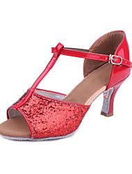 Customized Women's Sparkling Glitter Upper Dance Shoes For Latin/Ballroom Sandals