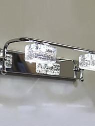 Baño Crystal LED Bombilla Incluida lámpara de pared, 2 Light, Modern cromo del metal