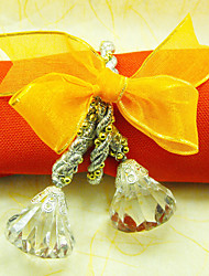 12 PCS Acrylic Yellow Round Napkin Rings Set