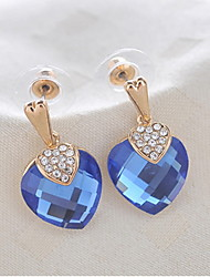 Elegant Alloy Gold Rhinestone & Crystal Women's Earrings