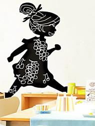 Доска стикер стены, съемный, Запуск девушка