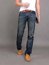 Men's Solid Casual Jeans,Cotton / Denim