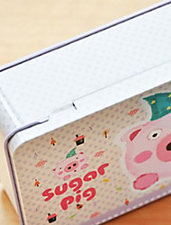 Adorable Pig Metal Storage Box For Stationery
