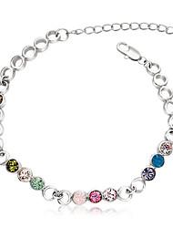 Ouxi Красочный Точки Pattern Кристалл браслет