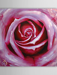 Hand Painted Oil Painting Floral Rose with Stretched Frame
