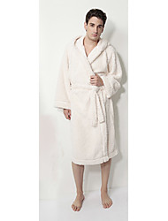 Bath Robe,100% Cotton Man White Solid Colour Short Garment Thicken