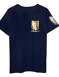 Ataque Titan Liberdade Asas de manga curta T-shirt Cosplay dos homens