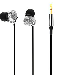 Small Skull With Jewelry In-Ear Super-Bass Earphone For MP3,MP4,Mobile Phone