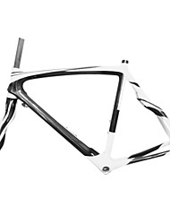 700C Full Carbon White+Black Road Bicycle Frame with Front Fork