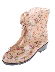 Rubber Women's Flat Heel Rain Boot Ankle Boots(More Colors)