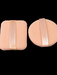 1PCS Square&1PCS Round 6cm Face Sponge Makeup Cosmetic Powder Puff