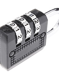 High Quality 3-Digit Luggage Combination Lock (Random Color)