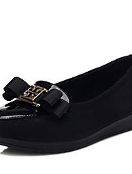 Guciheaven Nouveaux élégantes chaussures de plate en cuir verni (noir)