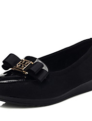 Guciheaven nuovo ed elegante pelle verniciata Platform Shoes (Nero)