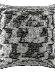 """18 """"Squard rayé texturé Chenille polyester coussin décoratif avec insert"""