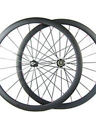 Larghezza di 25mm 700C carbonio 38 millimetri completa tubolari della bici della strada / Ruote bici
