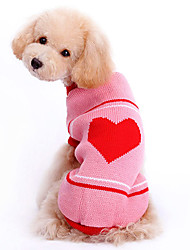 Big Loving Heart Pattern Round Neck Sweater for Pets Dogs (Assorted Sizes)