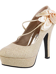 Women's Spring Summer Fall Platform Leatherette Wedding Stiletto Heel Platform Gold Red Red Gold