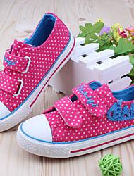 Talón de la lona plana Comfort Fashion Sneaker Zapatos de las muchachas con la cinta de la magia (más colores)