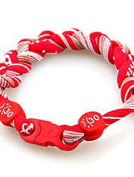 Red Sports Nylon Energy Woven Bracelet