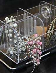 Fashion 6 Grid Transparent Desktop Storage Box