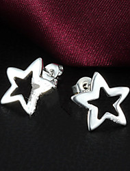 MISS U Women's Silver Star Earrings