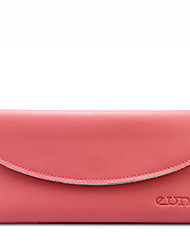 KATE&CO Genuine Leather Solid Color Wallet(Pink)