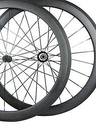 23mm Width 50mm 700C Full Carbon Tubular Road Bike/Bicycle Wheelsets with Light Powerway Hub