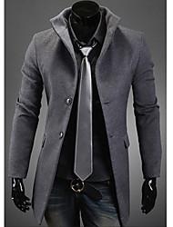 Men'S Korea Style Long Slim Trench Coat