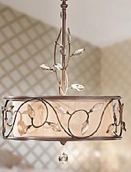 K9 candelabro de cristal, 3 Luz, Pintura criativa Ferro Tecido