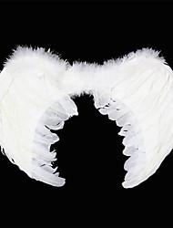 Asas de penas de carnaval White Angel
