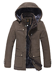 Men'S Warm Pourpoint Jacket with Hat