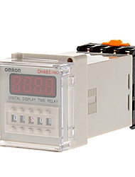 DH48S-2z AC / DC12V 24v 36v 48v 110v 220v ГРМ Дисплей LCD цифровой время задержки реле 0,01 с-9999h AC / DC12V Вт Цоколь