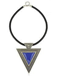 European Style Acryl Triangle Damen-Halskette