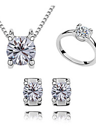 Xingzi Women'S Zircon Jewelry Set 6941 Ring Size 7