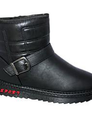 Masculina Couro PU Inverno tornozelo botas de neve
